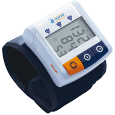 Compact wrist blood pressure monitor
