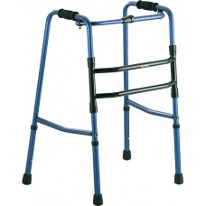 Hinged folding walker